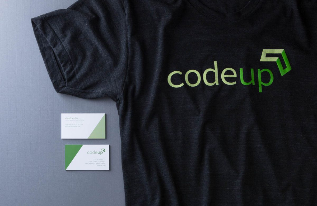 Codeup T-shirt & Business Card by Heavy Heavy
