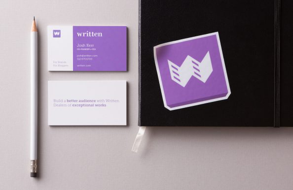 Written Business Card and Sticker by Heavy Heavy