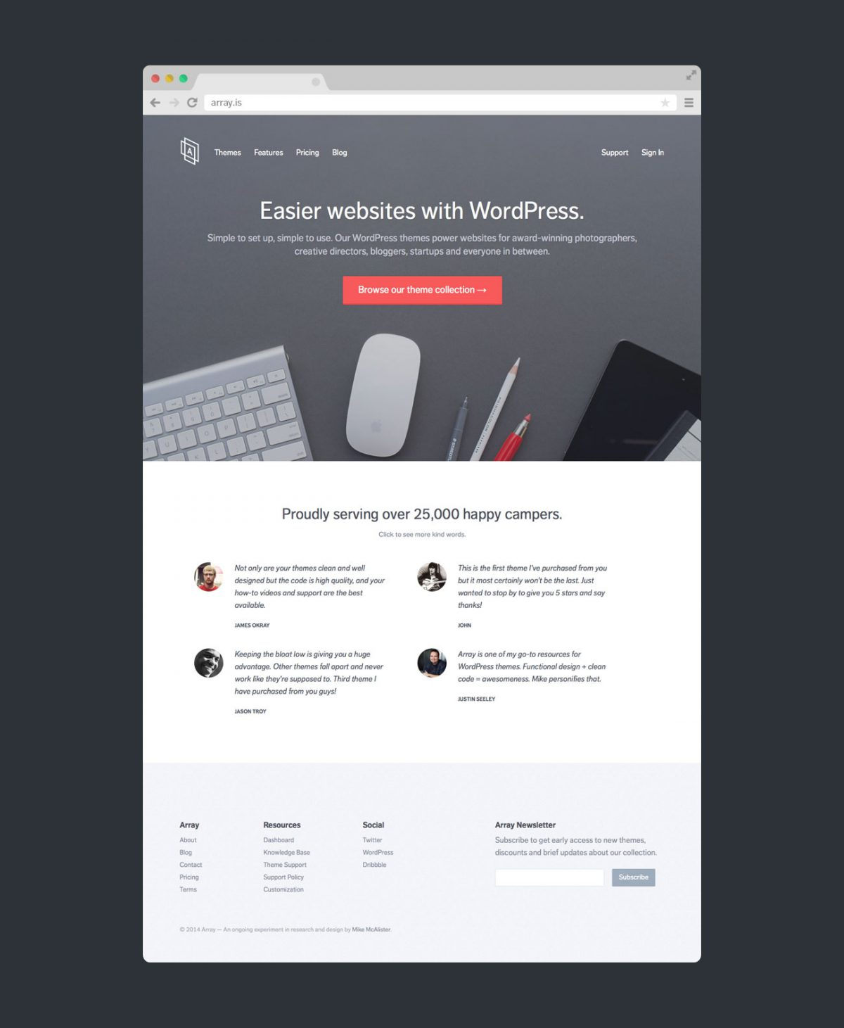Array Website by Array