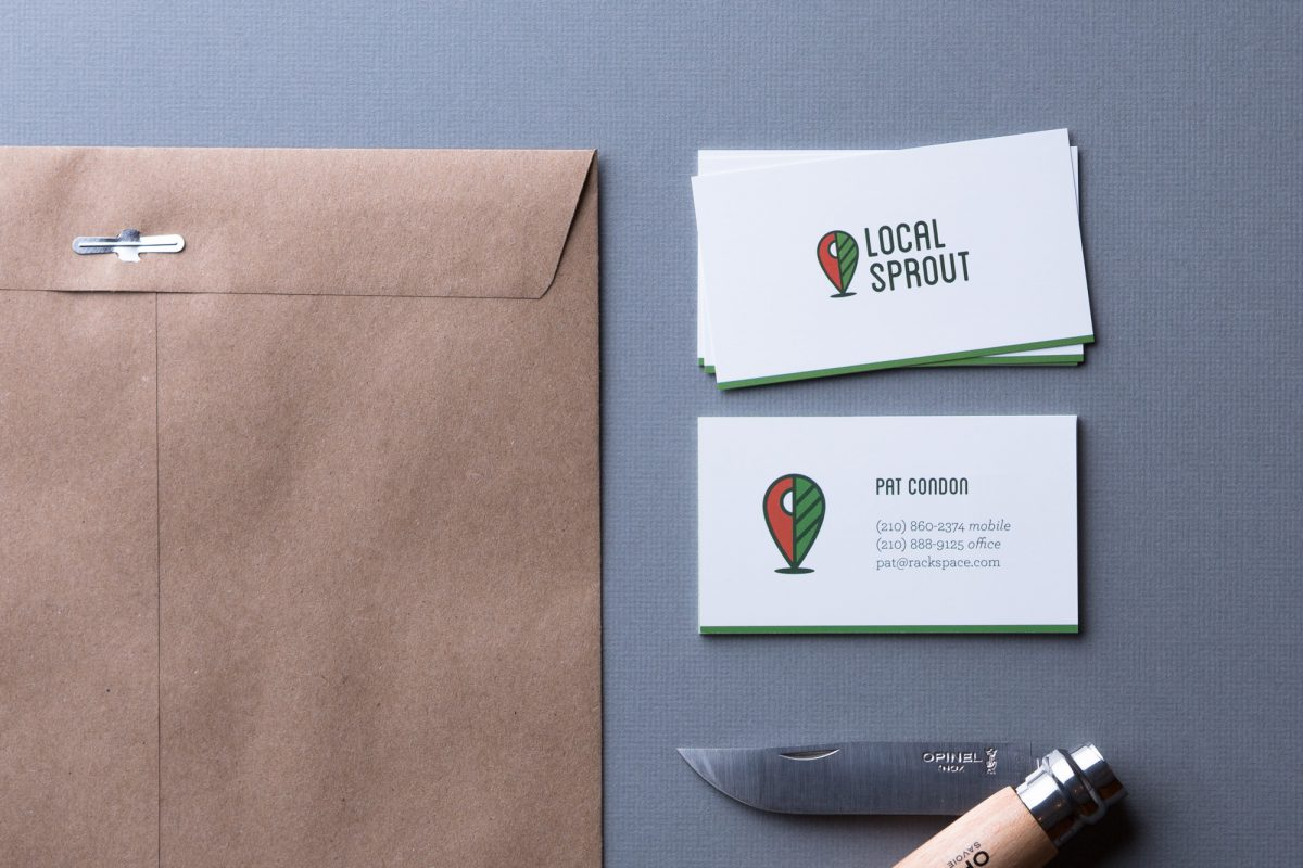 Local Sprout Business Cards by Heavy Heavy