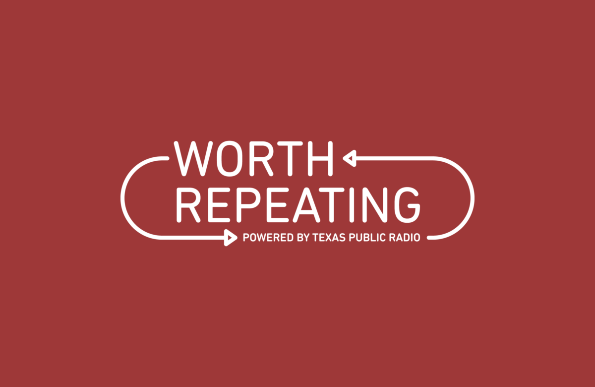 Texas Public Radio's Worth Repeating Logo designed by Heavy Heavy