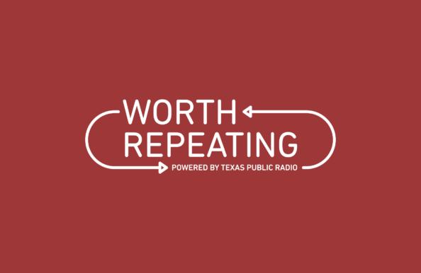 Texas Public Radio's Worth Repeating Logo designed by Heavy Heavy