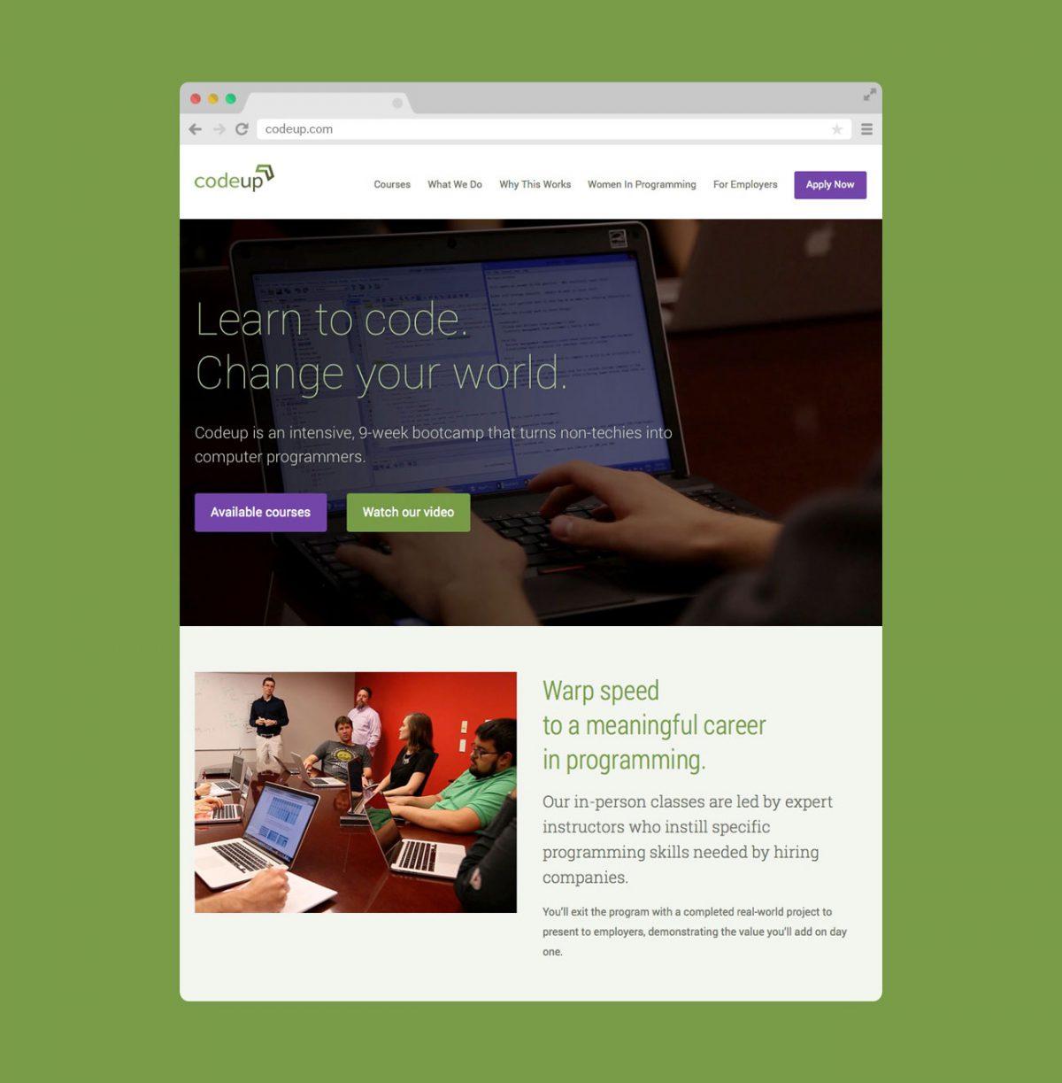 Codeup Website by Heavy Heavy (Browser Screenshot)